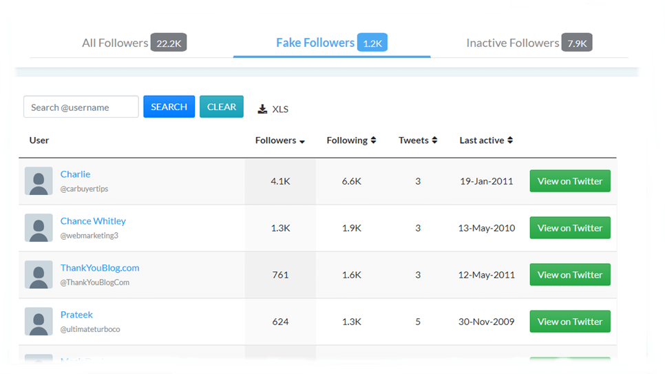 Block Fake Followers